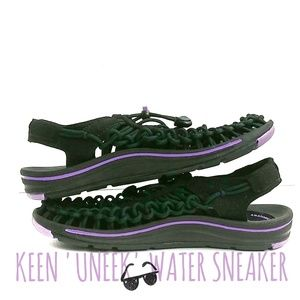 Keen Uneek Corded Sandals Black And Purple Size 6